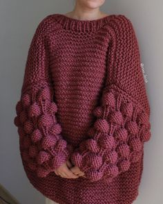 Raspberry Cardigan Making - hülyalı tatlar - Sweaters Knitting Designs, Knitting Patterns, Crochet Patterns, Knit Fashion, Sweater Fashion, Pullover Mode, Big Knits, Mittens Pattern, Knitting Projects