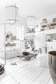 Home Decoration Living Room Luxury Homes Interior, Luxury Home Decor, Loft Design, Modern House Design, Grey Interior Doors, Deco Boheme, Loft Interiors, White Rooms, Interiores Design