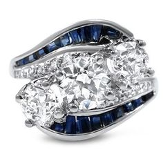 this is gorgeous, I wondered what it would look like with black diamonds instead of the sapphires