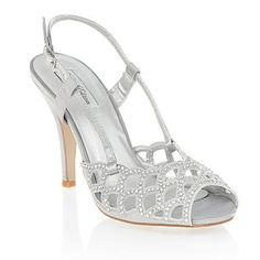 Special Edition - Silver scallop strap sandals - High heel shoes - Shoes & boots - Women -