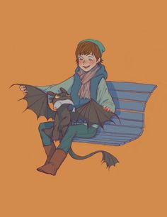 How To Train Your Dragon: Hiccup and Toothless