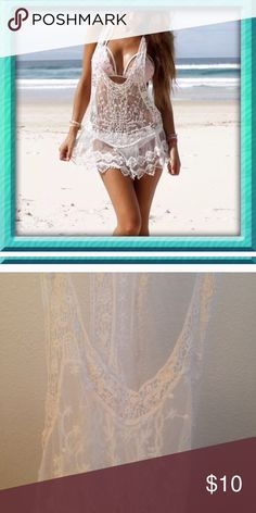 Lace bikini cover up New in package, off white looking,   **WILLING TO TRADE at a higher price & likely in bulk** Swim
