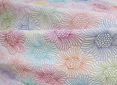 Wholecloth Quilt Pattern-hexagon flower quilt