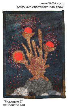 Art quilt by Charlotte Bird #artquilts #SAQA