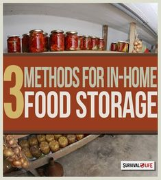 Getting Started with In-Home Food Storage #Survival #Preppers