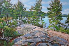 Acrylic on Gallery Canvas Jack Pine Trail, Achray Campground, Algonquin Park Available at Koyman Gallery in Ottawa ON Canadian Painters, Canadian Artists, New Artists, Watercolor Landscape, Abstract Landscape, Landscape Paintings, Landscapes, Oil Paintings, Amazing Paintings