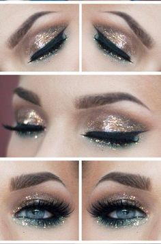 Gold + sparkle / dorado + brillos