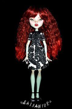 monster high doll ooak repaint custom artist big 17 by Saijanide