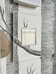 adorne light switch with wallpaper // @simplifiedbee #oneroomchallenge