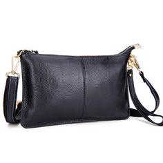 3b40b0ef92 100% Genuine Leather Bags Women Messenger Bags Famous Brands Fashion Ladies  Shoulder Crossbody Bag Feminine