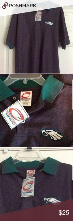 Philadelphia Eagles Mens Polo Shirt NWT SZ M Philadelphia Eagles Mens Polo Shirt NWT SZ M.MADE BY CADRE ATHLETIC.  Sorry no trades. Cadre Athletic Shirts Polos