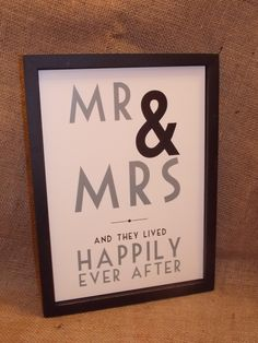 Wooden Framed Mr & Mrs Wall Picture, £16.75 Mr Mrs, Wall Signs, Happily Ever After, Picture Wall, Frame, Pictures, Wall Plaques, Picture Frame, Photos