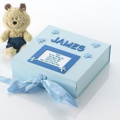 Naming Day Memory Box. £19.99 #MemoryBox #BabyGifts #NewBaby #Newborn #Baby #HandmadeGifts #PersonalisedBabyGifts #PersonalisedMemoryBox