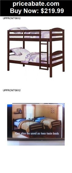 Kids-Furniture: Bunk Beds Twin over twin Bedroom wood Furniture Ladder Boys Girls Dorm Loft New - BUY IT NOW ONLY $219.99