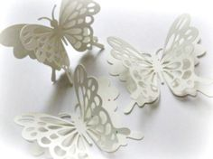 Snow White Butterfly Stickers  by:-mybutterflyheaven
