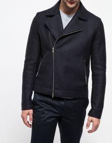 Pressed Wool Motorcycle Jacket