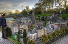 Madurodam, the miniature city in Hague, Netherlands
