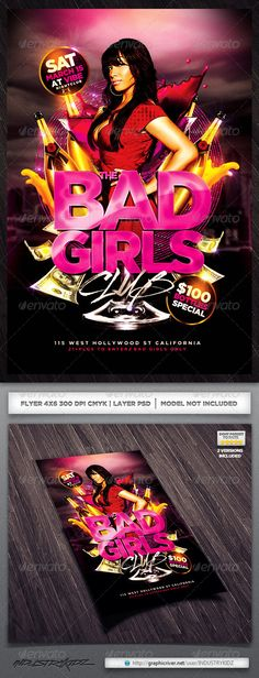 Girls Night Party Flyer   Party flyer and Print templates