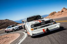 Long story short: You can download some beautiful wallpapers of the Audi S1 Pikes Peak and TT Clubsport Turbo here: http://addicted-to-motorsport.de/2017/12/10/download-tipp-wallpaper-von-jps-audi-trip-zum-pikes-peak/ #addicted2motorsport #audi #pikespeak #wallpaper #carporn