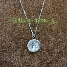 12 GA Shotgun Shell Necklace from Bandana Janna's Washer Necklace, Pendant Necklace, Shell Necklaces, Stainless Steel Chain, Shotgun, Bandana, Shells, Great Gifts, Free Shipping