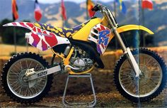 Late 80's and early 90's wild graphics on a Suzuki RM250