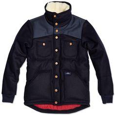 Bleu de Paname Wool Shoulder Panel Jacket  / Marine