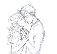 FAN ART of percy jackson and annabeth chase