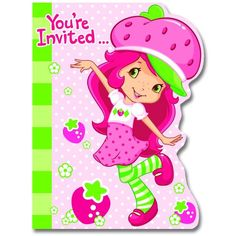 Strawberry Shortcake Party Invitations are a great way to get the party started for your Strawberry Shortcake special event. Each pack has 8 invitations. Don't forget to pick up the matching plates, c