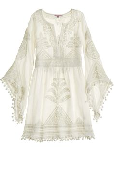 Calypso St. Barth Bridal - Playla Hand Embroidered Dress.