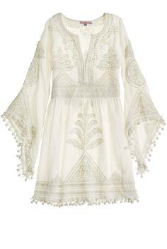 Calypso St. Barth Bridal - Playla Hand Embroidered Dress.
