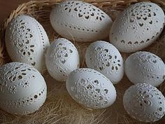 Vysoke Tatry by Drahos H. Egg Crafts, Easter Crafts, Diy And Crafts, Egg Shell Art, Carved Eggs, Egg Tree, Ukrainian Easter Eggs, Czech Recipes, Faberge Eggs