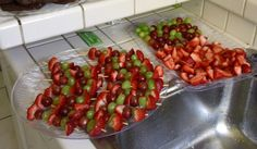 sorry, not a pretty display, these were a big hit at our BBQ,3 large trays went quick, easy way to control when feeding a large crowd..and so tasty!!
