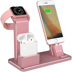 YoFeW Charging Stand for Apple Watch Aluminum Watch Charging Stand Dock Holder Compatible for iWatch Apple Watch Series / AirPods/iPhone X/XS/XS Ma / / Plus Plus, Iphone Watch, Iphone 8, Gadgets Électroniques, Bling Phone Cases, Iphone Accessories, Bedroom Accessories, Coque Iphone, Docking Station, Apple Products