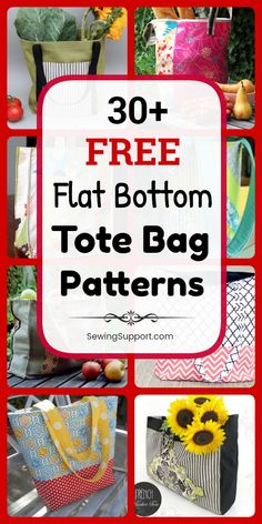 Tote Bag Patterns: free structured, box-style, flat bottom tote bag patterns, tutorials, and diy sewing projects.) Styles include easy and simple tote bag patterns for… Diy Sewing Projects, Sewing Projects For Beginners, Sewing Hacks, Sewing Tutorials, Sewing Tips, Bags Sewing, Beginners Quilt, Sewing Crafts, Bag Patterns To Sew