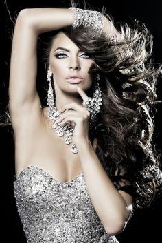 silver dress, woman, hair sensual, girl, jewerly