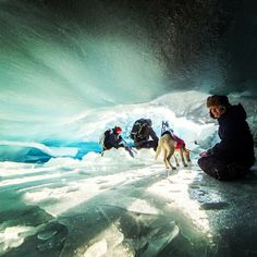Having fun exploring an ice cave. Thanks to @dcanak1 on Instagram.