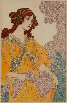 Art Nouveau post card.