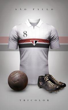 São Paulo FC - Moda e futebol - Designer lança estilo retrô das camisas dos principais time do mundo ---http://bit.ly/1BT9ToO (via Catraca Livre)
