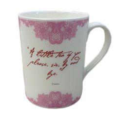 Set of 6 Jane Austen Bone China Quote Mugs   Jane Austen Gift Shop