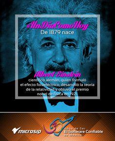 #UnDíaComoHoy 14 de marzo pero de 1879 nace el científico alemán Albert Einstein, quien formuló el efecto fotoeléctrico, desarrolló la teoría de la relatividad y obtuvo el premio nobel de física en 1921.