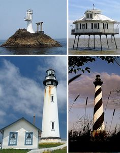 Top Right : Middle Bay Light, Mobile,Al