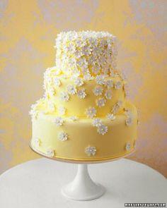 yellow and white wedding cake ~  we ❤ this! moncheribridals.com #summerweddingcake