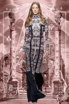 Mary Katrantzou AW14 Greek insignia GIF. More images here: http://www.dazeddigital.com/fashion/article/18925/1/lfw-aw14-gifs