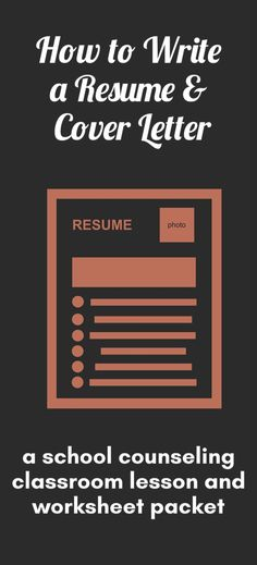 This download includes worksheets to guide students through the steps of creating a resume and cover letter. These can be used as a stand-alone workshop or classroom lesson or as part of a wider unit. Use to help students prepare to make their own snazzy resume, or use for mock-interviews throughout the school.