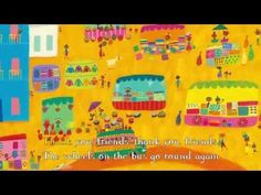 ▶ The Wheels on the Bus from the wonderful Barefoot Books! - YouTube ( with a twist !) Check it out!