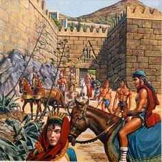 Puerta de los leones en Micenas, cortesía de Roger Payne. Más en www.elgrancapitan.org/foro