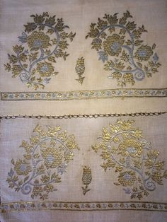 This is a beautiful example of Ottoman-Turkish embroidered yaglık / napkin . It is 114cm in length and 50cm in width. The height of
