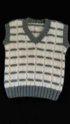 Yelek [] Knitting Patterns, C Patterns - Diy Crafts - DIY & Crafts Baby Boy Knitting Patterns, Knit Patterns, Next Clothing Kids, Handgestrickte Pullover, Knit Baby Sweaters, Vest Pattern, Easy Knitting, Knit Crochet, Kids Outfits