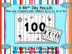 Freebie for the 100th Day of School