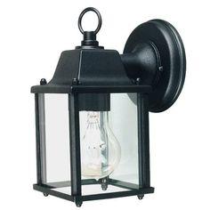 13 euro Applique descendante d'extérieur noir en fonte d'aluminium avec un diffuseur en forme de lanterne.Illuminez votre terrasse ou votre jardin grâce à cette applique noire en fonte d'aluminium. Son des...